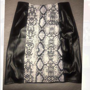 Leather Python Skirt